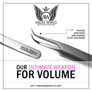 UVW Angel Wings spotless tweezers mega volume hand-tested hand-adjusted