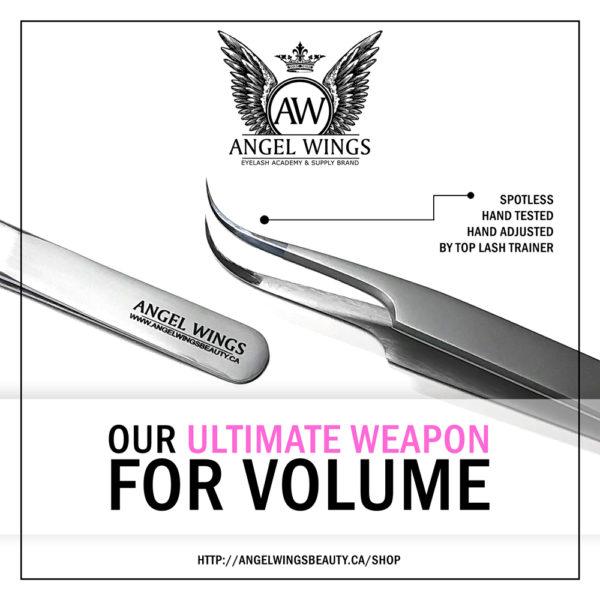 UVW Angel Wings spotless tweezers mega volume hand-tested hand-adjusted