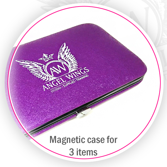 eyelash tweezers magnetic case for 3 items