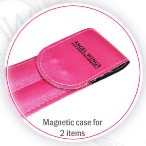 eyelash tweezers magnetic case pouch for 2 items