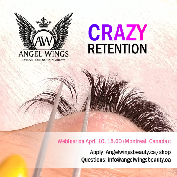 Crazy Retention eyelash extension webinr