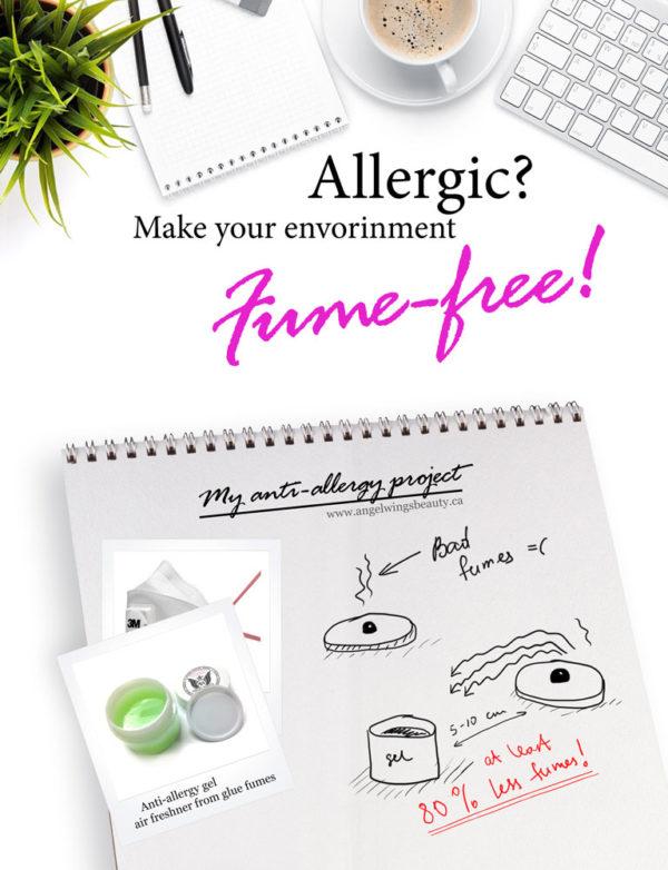 anti-allergy gel air freshner glue vapor absorber