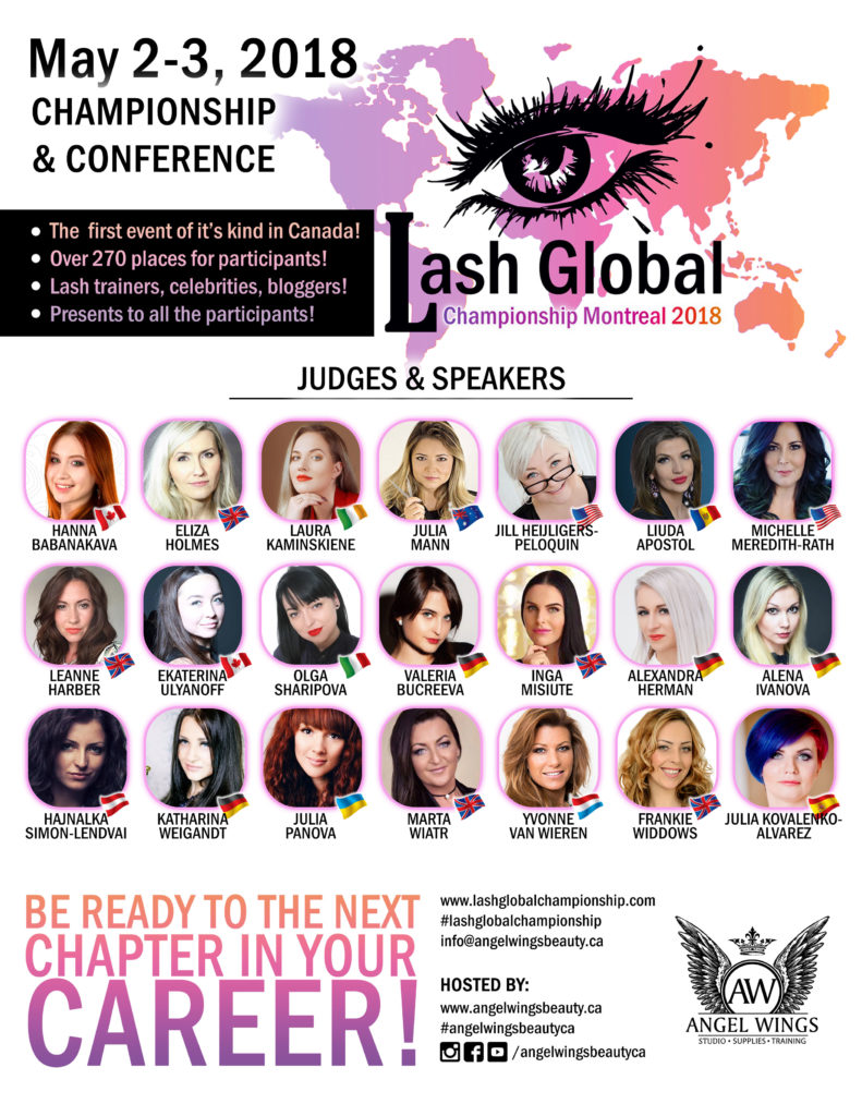 Lash global eyelash extension championship and conference 2018 Montreal canada
